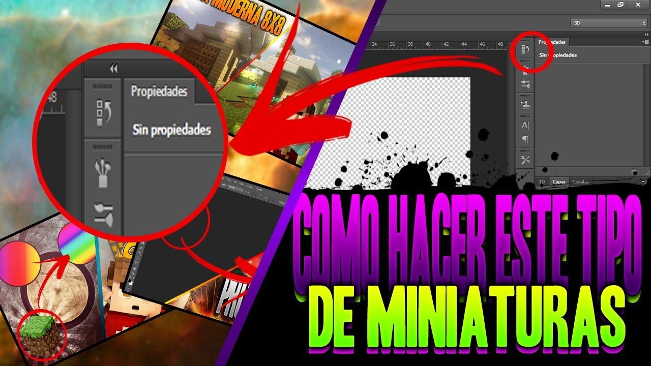 Como Hacer Miniaturas Para Youtube Muy Llamativas Tutorial Photoshop Cs6