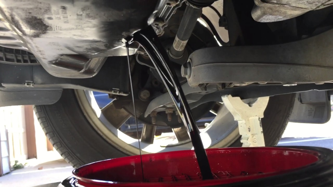 volkswagenvw tiguan  black dirty engine oil   oil change youtube