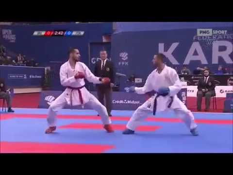 Hamoon Derafshipour Vs Luca Maresca - Paris 2018 Karate 1 World Premier League