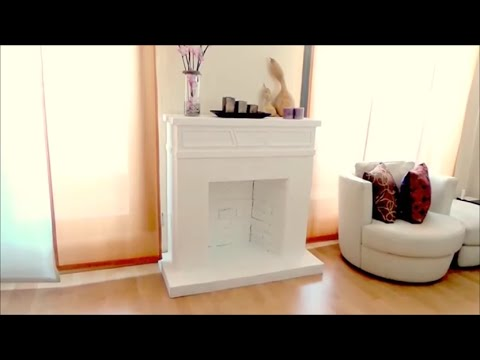 DIY CRAFTS: Decorative cardboard fireplace - Isa ❤ - YouTube