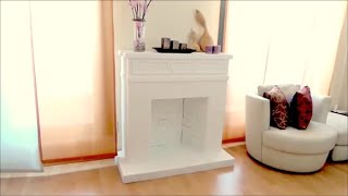 DIY CRAFTS: Decorative cardboard fireplace - Isa ❤️