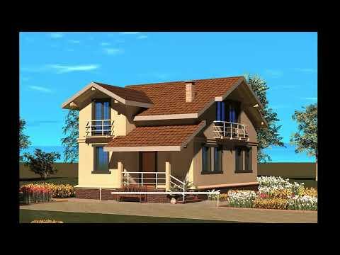 дизайн каркасного дома