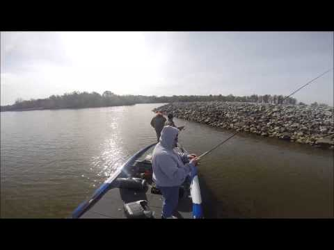 Casting riprap for crappie with Russ Bailey, Josh Gowan, and Tom Keckler