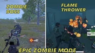 EPIC ZOMBIE mode   NEW FLAME THROWER weapon - 0.11.0 VERSION   EPIC PUBG GAMEPLAY FUN