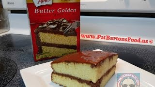 Duncan Hines® classic Butter Golden Cake With Homemade Chocolate Frosting