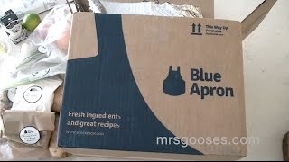 Unboxing a Blue Apron Food Box