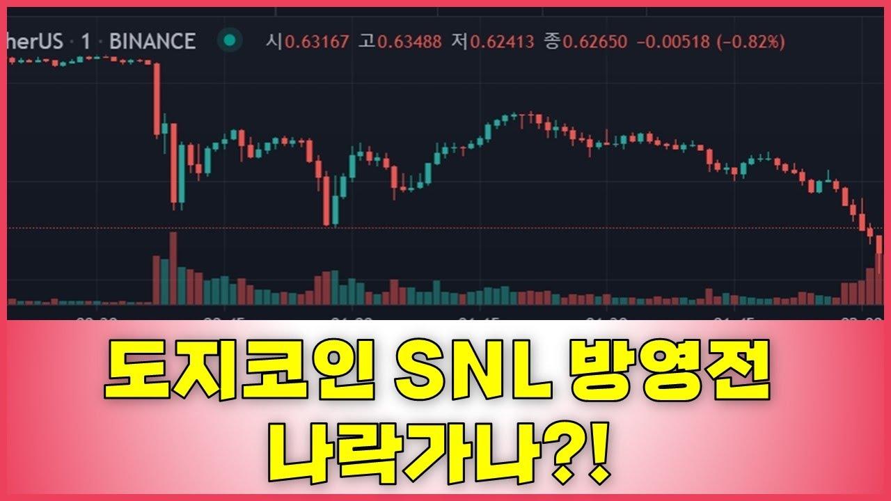 5월 9일 도지코인 급락 실시간, 일론 머스크 SNL 대본 유출?, 방영시간
