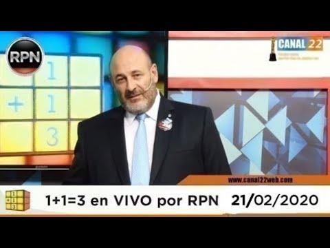 CÚNEO EN VIVO   Uno Más Uno Tres 21/02/2020 1 + 1 = 3 # CúneoEnVIVO 19:00 Hs.