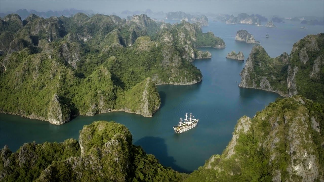 Halong Bay From The Sky - YouTube