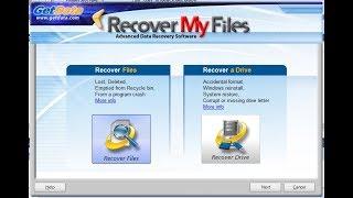 شرح استرجاع الملفات المحذوفة مع برنامج Recover My Files تجربة عملية 100%