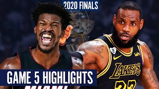 LAKERS vs HEAT GAME 5 - Full Highlights | 2020 NBA Finals