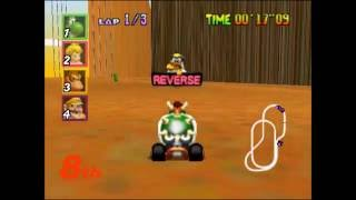 Mario Kart 64: Unused track scaling feature