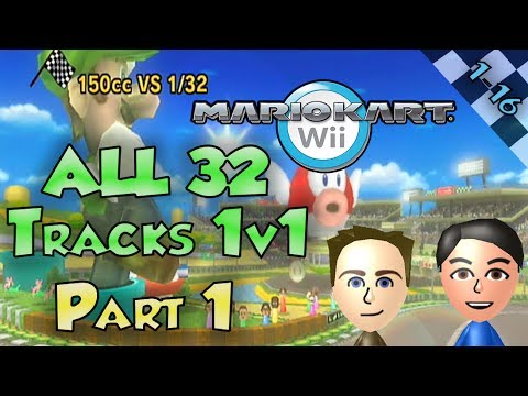 Mario Kart Wii - Colton vs Matt ALL 32 Tracks Part 1/2