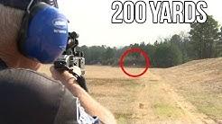 Kriss Vector .45 ACP pistol at 200 yards!