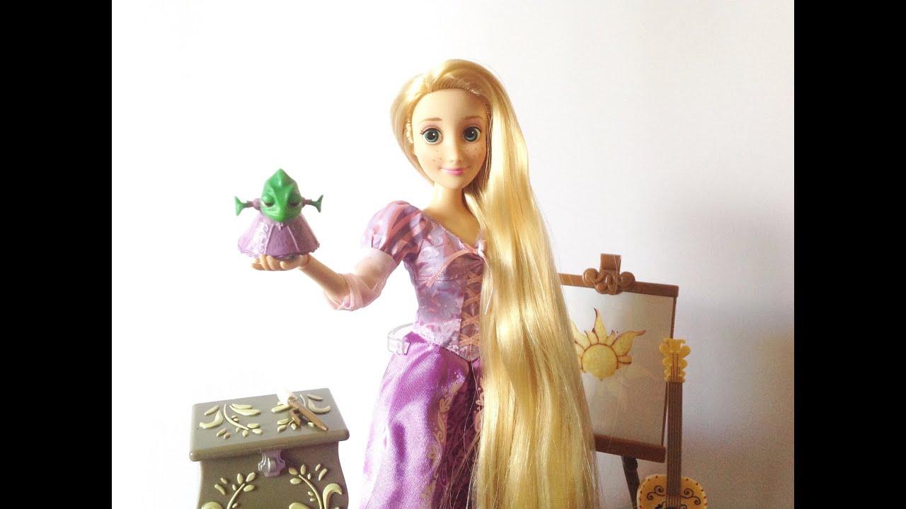 disney store tangled rapunzel deluxe singing doll set review youtube. Black Bedroom Furniture Sets. Home Design Ideas
