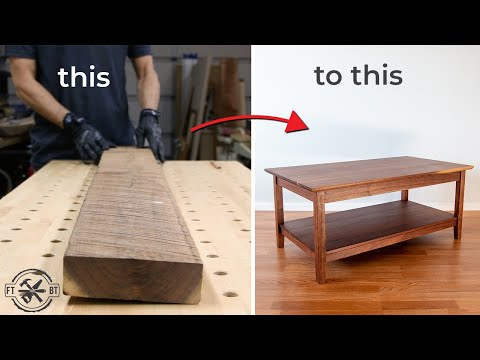 How to Build a Coffee Table from Rough Wood | DIY Woodworking