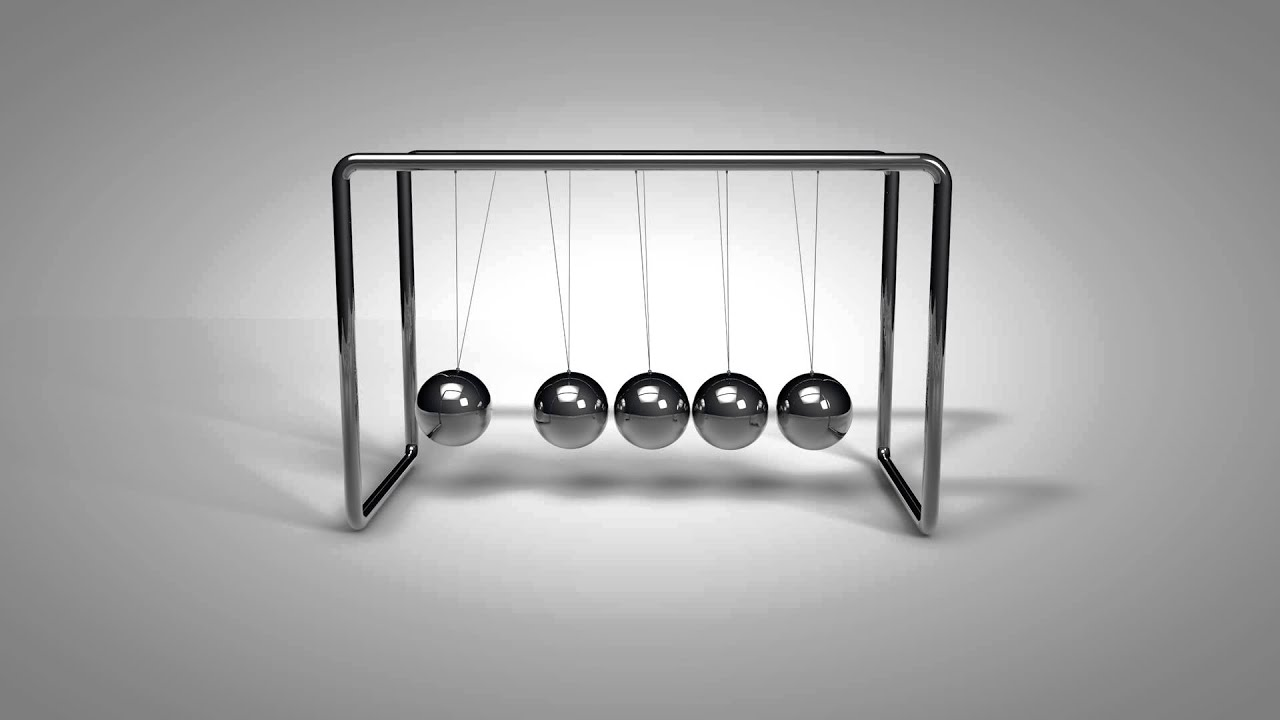 newtons cradle Newton made a device that shows the conservation of momentum and energy using spheres you can lift the end spheres and let them go, creating a chain reaction on the.