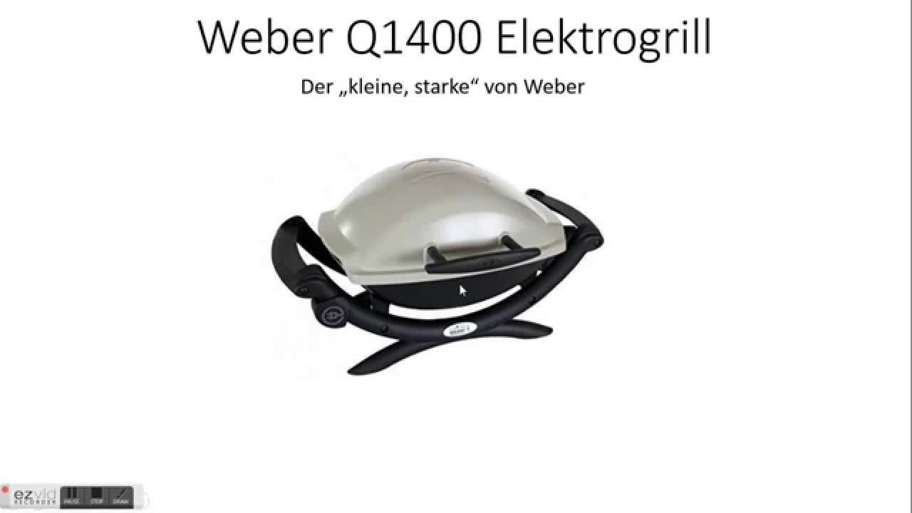 weber q1400 elektrogrill test youtube. Black Bedroom Furniture Sets. Home Design Ideas