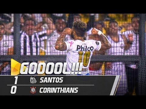 Santos 1 x 0 Corinthians | GOL | Brasileirão (13/10/18)