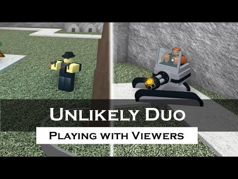 Playing the Unlikely Duo with Viewers   Tower Battles [ROBLOX]