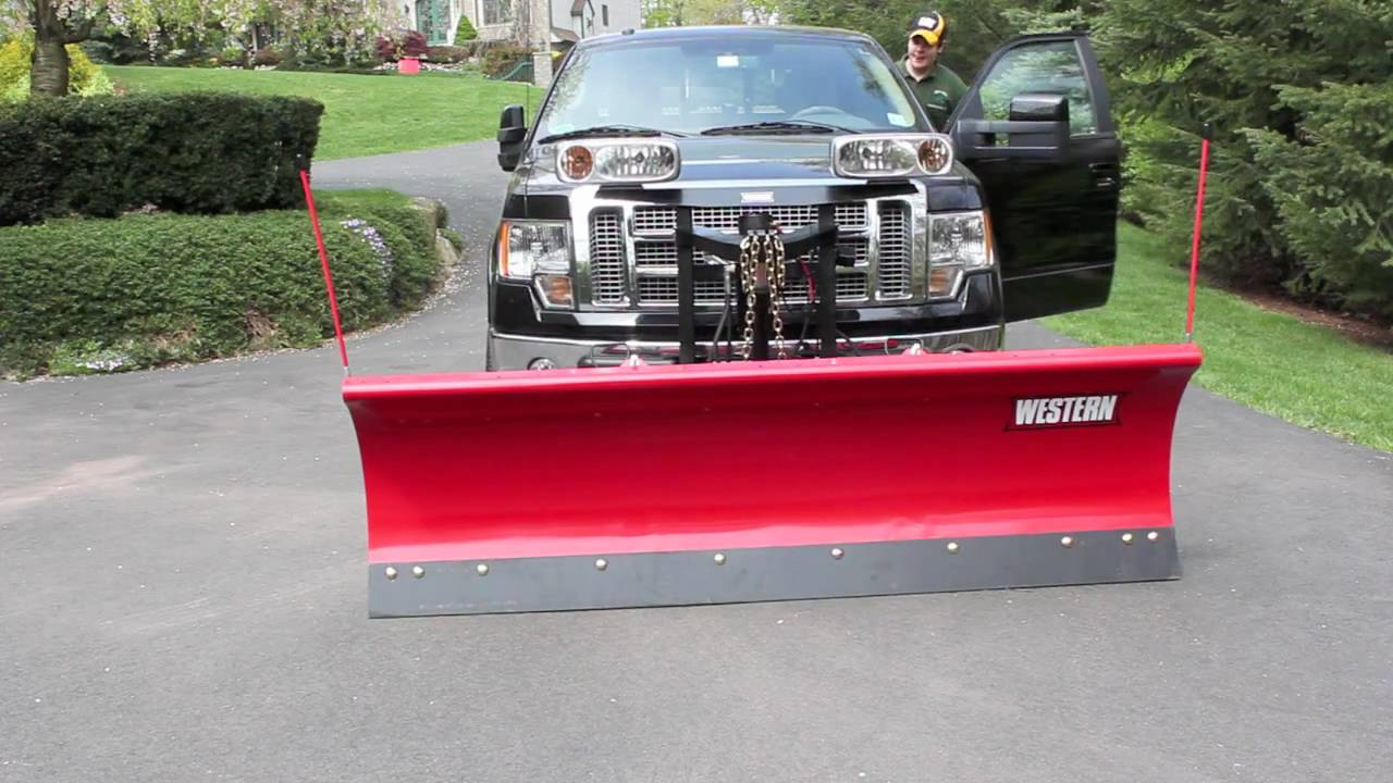 F150 Snow Plow >> Mounting & unmounting my plow - YouTube