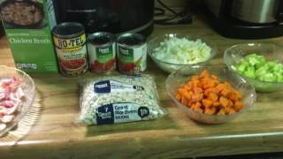 Bean & Bacon Soup in the Pressure Cooker