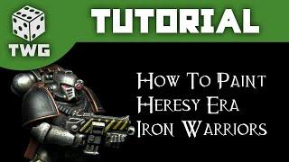 Games Workshop Tutorial: How To Paint Horus Heresy Era Iron Warriors