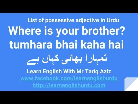 """How to use """"Your"""" List of Possessive adjective In Urdu"""