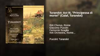 "Turandot: Act III, ""Principessa di morte!"" (Calaf, Turandot)"