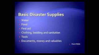 Emergency Preparedness - Supply List