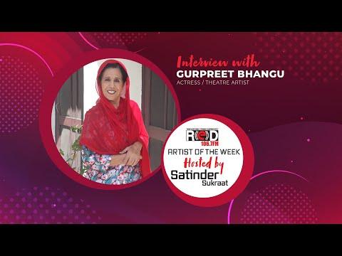 Actress & Theatre Artist Gurpreet Bhangu Joins Red Fm's Host Satinder Sukraat.