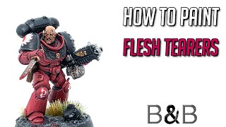 How to paint a Flesh Tearers Space Marine