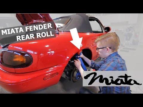 Miata Fender Rolling REAR Wheel Fitment DIY