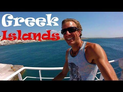 Greek Islands Budget Travel Adventure! 6 Greek Islands in 1 Day