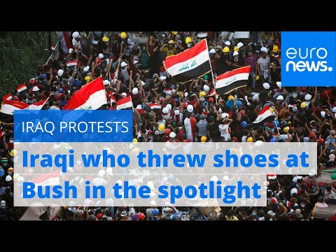 The Iraqi who threw shoes at George W Bush is back in the spotlight as protests grip country