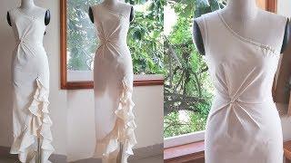How to drape twisted dress