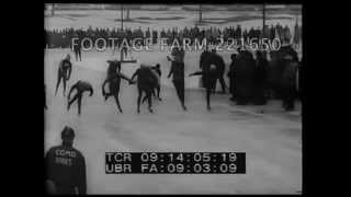 National Speed Skating, 1960  221650-20 | Footage Farm