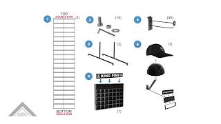 King Pins Standing Shelf Assembly
