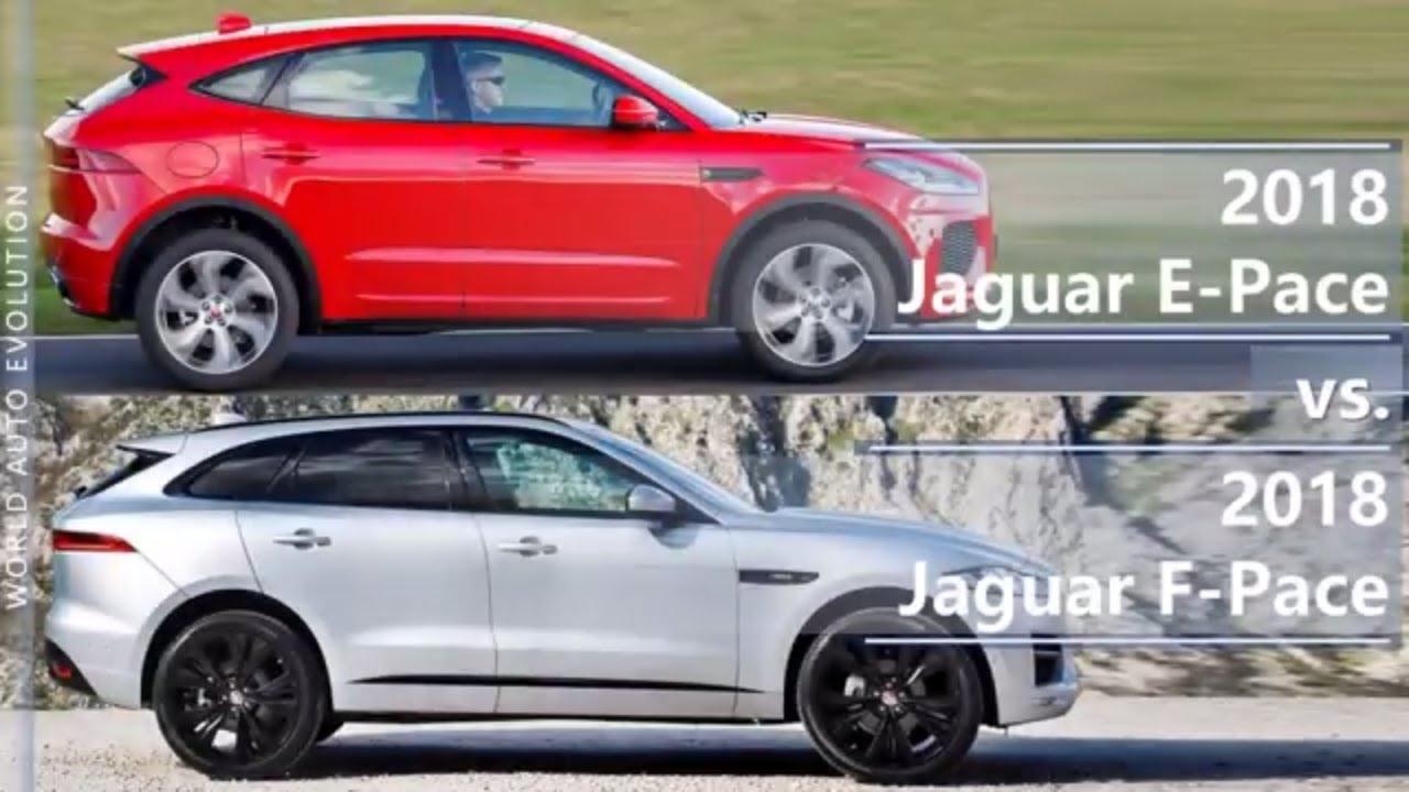 2018 Jaguar E Pace Vs 2018 Jaguar F Pace Technical Comparison