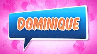 Joyeux anniversaire Dominique (Fille)