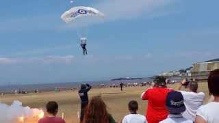 Parachutist fell onto a pensioner at Weston super Mare RAF display