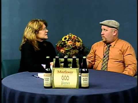 Lisa Saunders and Patrick Bailey discuss Mayflower beer