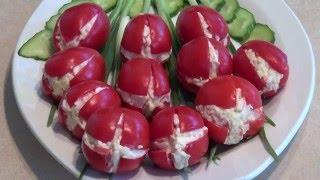 Салат Тюльпан. Вкусные слоеные салаты. Романтические рецепты.