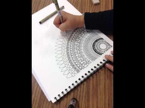 Drawing a basic mandala