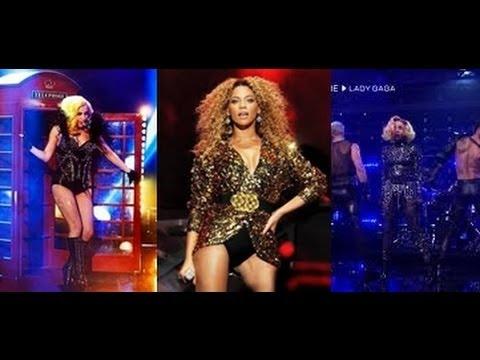 Lady Gaga Ft. Beyonce - Telephone (Live Performances Mash Up)