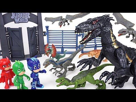 Jurassic World 2 Fallen Kingdom's dinosaur Indoraptor appeared! PJ Masks! Transform! - DuDuPopTOY