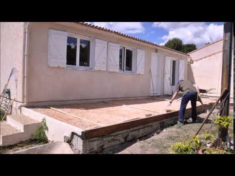 Terrasse En Dalle Beton Sur Sable  Youtube