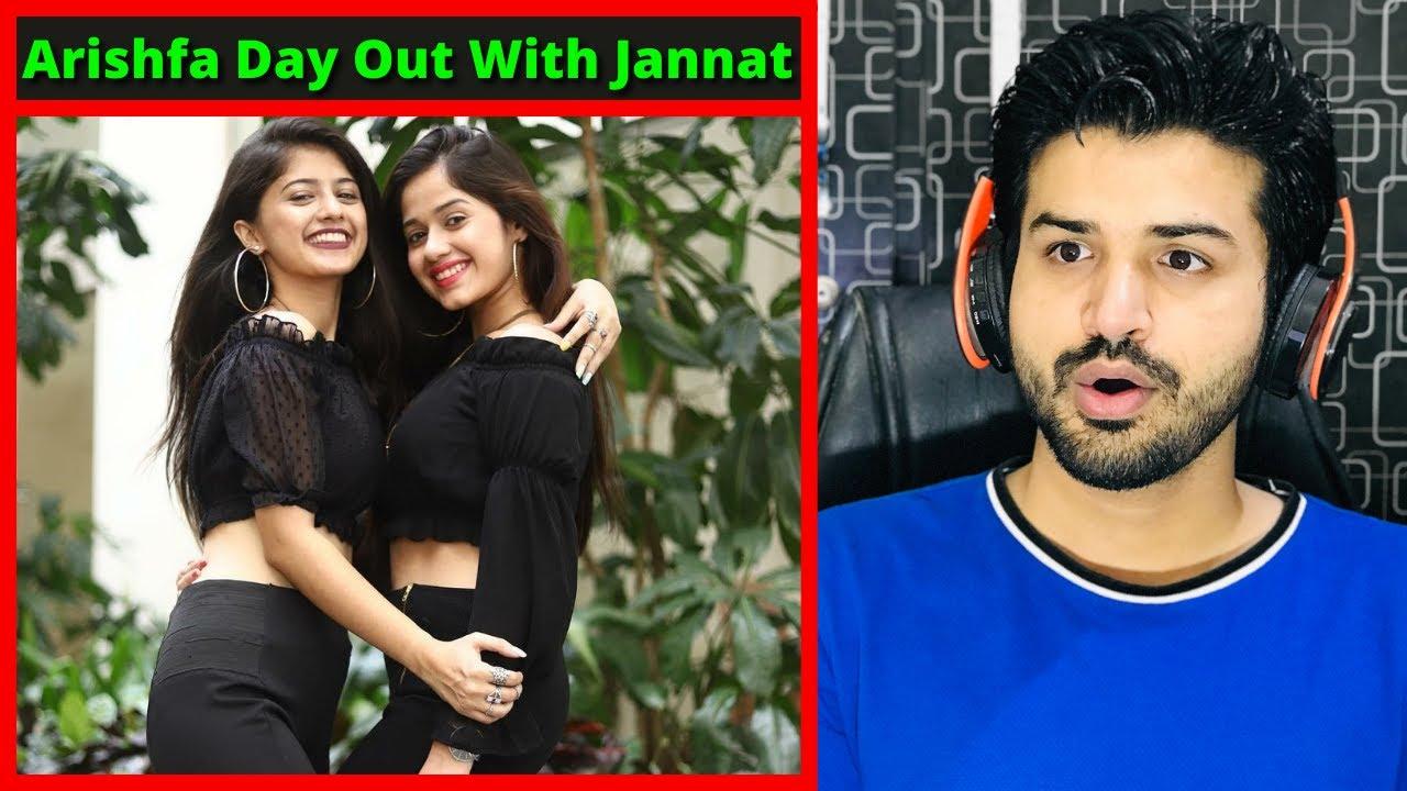 Pakistani React on Arishfa Khan Day Out With Jannat Zubair   Reaction Vlogger