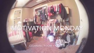 MOTIVATION MONDAY | cleaning the room + office