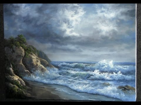 Paint with Kevin Hill - Rocky Ocean Shore